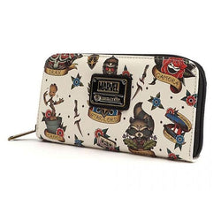 Guardians of the Galaxy Tattoo Flash Print Loungefly Wallet-The Nerdy Byrd
