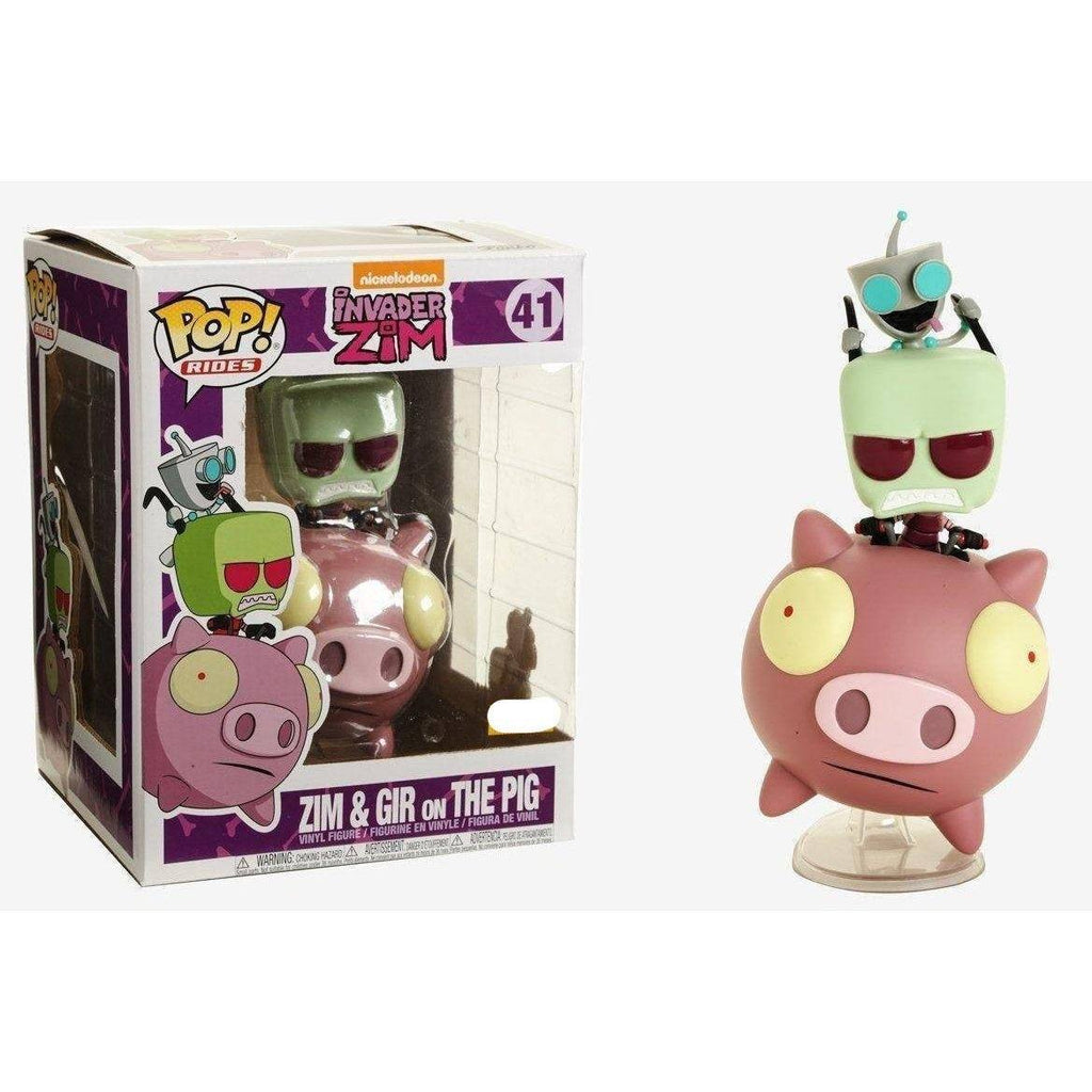 Invader Zim & Gir On The Pig Exclusive Funko Pop! Vinyl-The Nerdy Byrd