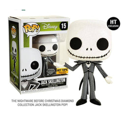 Jack Skellington Diamond Collection Hot Topic Exclusive Funko Pop! Vinyl-The Nerdy Byrd