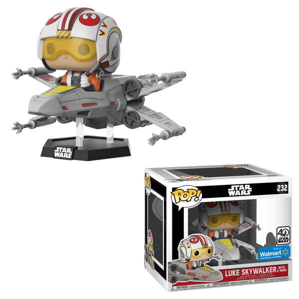 Luke Skywalker with X-Wing Star Wars Walmart Exclusive Funko Pop! Vinyl-The Nerdy Byrd