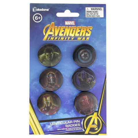 Marvel Infinity War Lenticular Pin Badges-The Nerdy Byrd