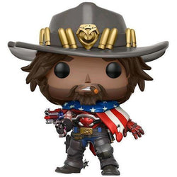 McCree USA Flag Overwatch Exclusive Funko Pop! Vinyl-The Nerdy Byrd