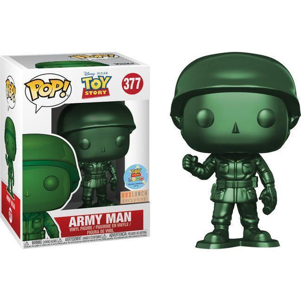 Metallic Army Man BoxLunch Toy Story Land Exclusive Funko Pop! Vinyl-The Nerdy Byrd