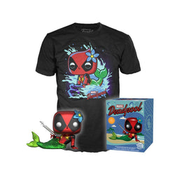 Metallic Deadpool Funko Pop! & Tee (L) Target Exclusive Collectors Box-The Nerdy Byrd