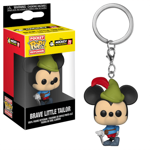 Mickey Mouse Brave Little Tailor 90th Anniversary Funko Pocket Pop! Keychain-The Nerdy Byrd