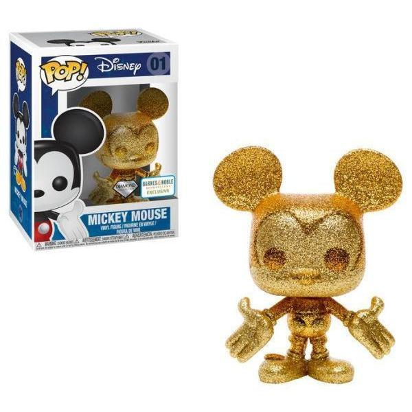 Mickey Mouse (Gold) Diamond Collection B&N Exclusive Funko Pop! Vinyl-The Nerdy Byrd