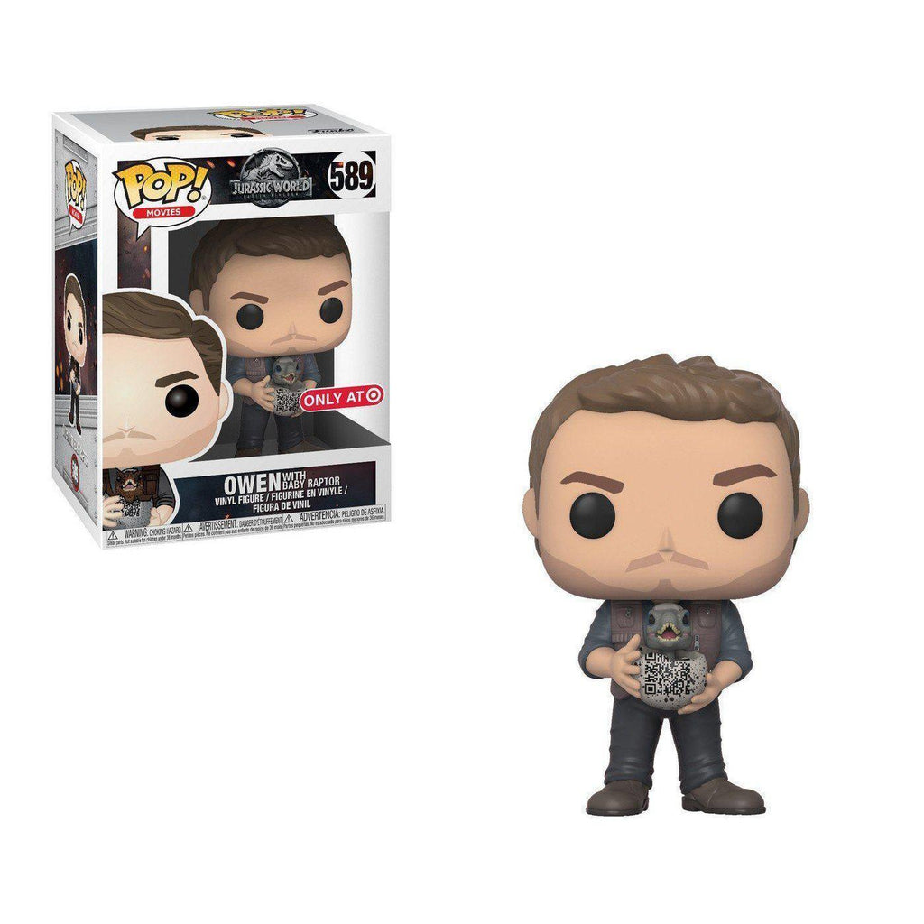 Owen With Baby Raptor Jurassic World 2 Target Exclusive Funko Pop! Vinyl-The Nerdy Byrd