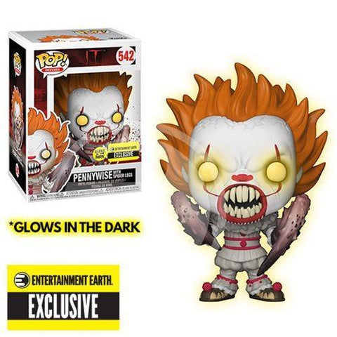 Pennywise w/ Spider Legs GitD Entertainment Earth Exclusive Funko Pop! Vinyl-The Nerdy Byrd
