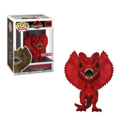 Red Dilophosaurus Jurassic Park Target Exclusive Funko Pop! Vinyl-The Nerdy Byrd