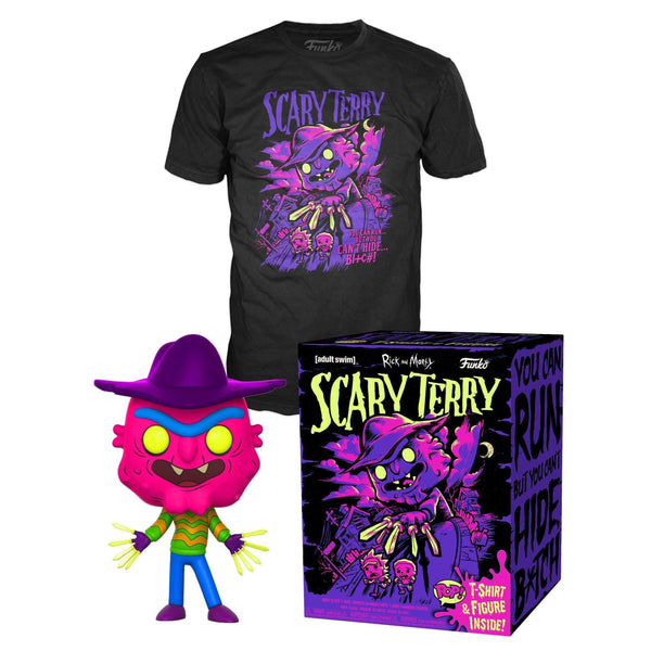 Rick and Morty Scary Terry Pop! & Tee GameStop Exclusive-The Nerdy Byrd