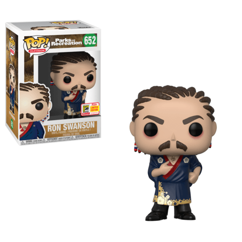 Ron Swanson (Cornrows) Parks & Rec SDCC 2018 Exclusive Funko Pop! Vinyl-The Nerdy Byrd