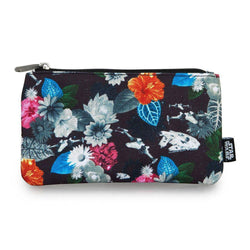 Star Wars Floral Cosmetic/Coin Loungefly Bag-The Nerdy Byrd