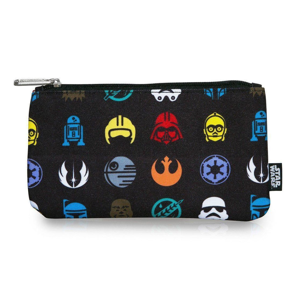 Star Wars Multi Symbol Cosmetic/Coin Loungefly Bag-The Nerdy Byrd