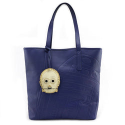 Star Wars R2-D2 & C-3PO Embossed Loungefly Tote Bag-The Nerdy Byrd