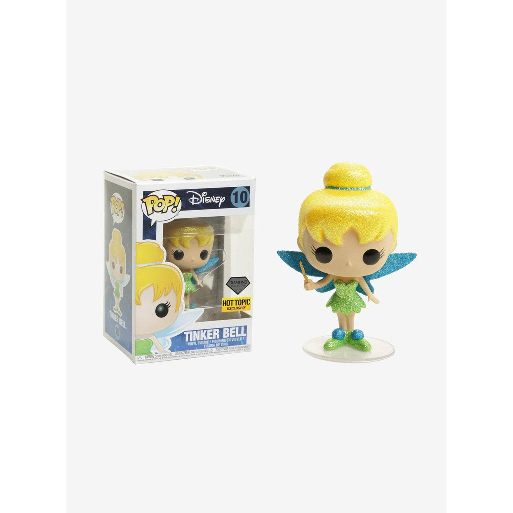 Tinkerbell Diamond Collection Hot Topic Exclusive Funko Pop! Vinyl-The Nerdy Byrd