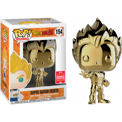 Vegeta Gold Chrome DBZ SDCC 2018 Exclusive Funko Pop! Vinyl-The Nerdy Byrd