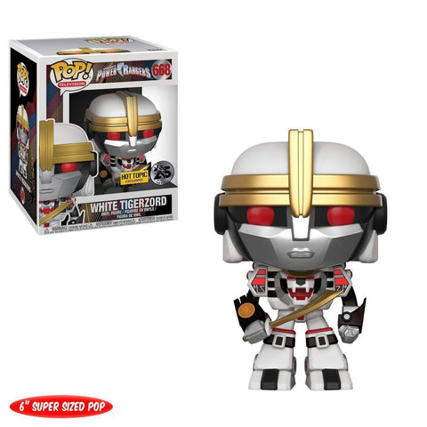 "White Tigerzord 6"" Power Rangers Hot Topic Exclusive Funko Pop! Vinyl-The Nerdy Byrd"