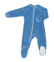 Organic Cotton Velour Footed Sleepers