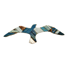 Coastal Wood Block Seagulls