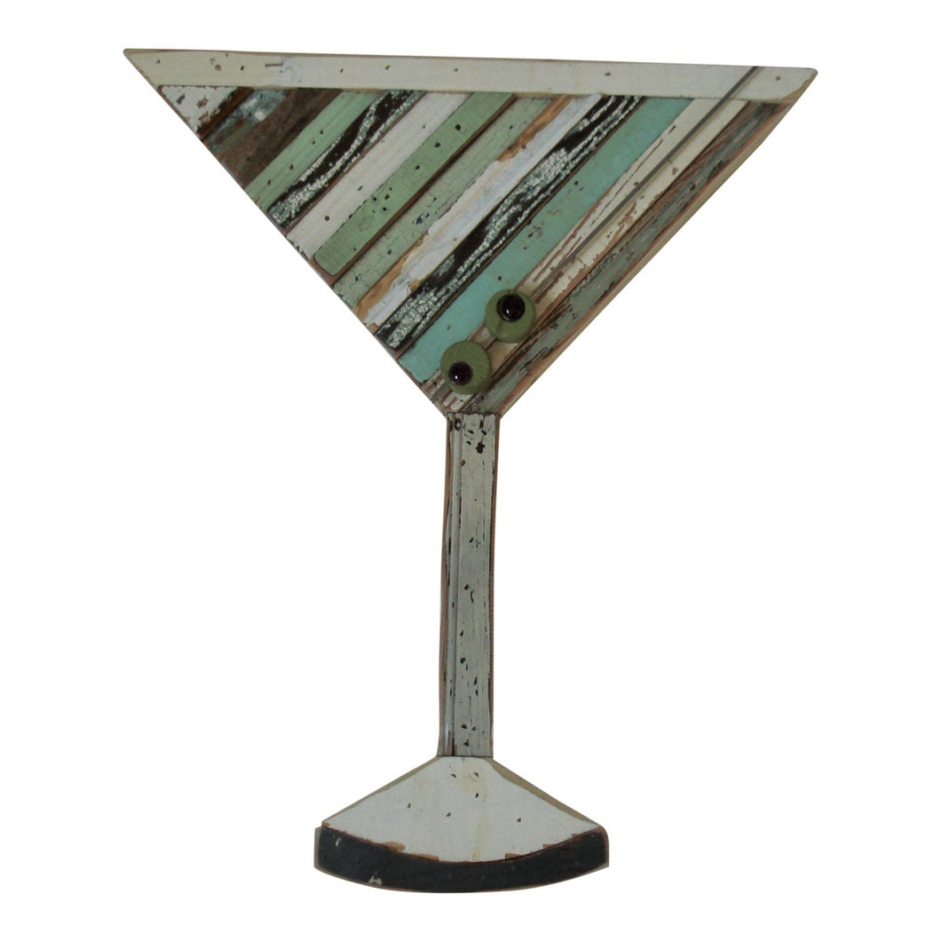 Folk Art Martini Glass