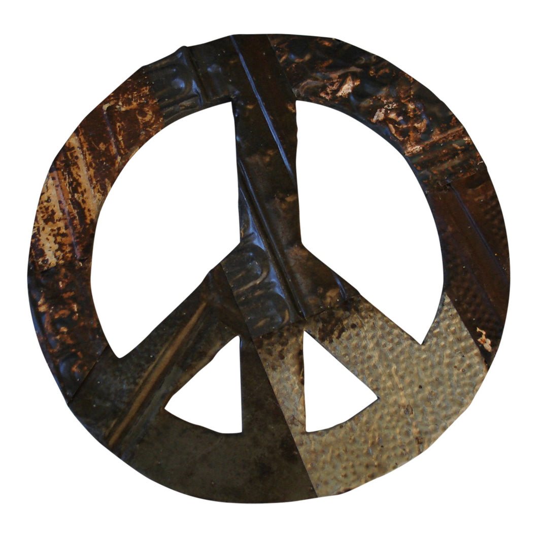Antique Ceiling Tin Peace Symbol