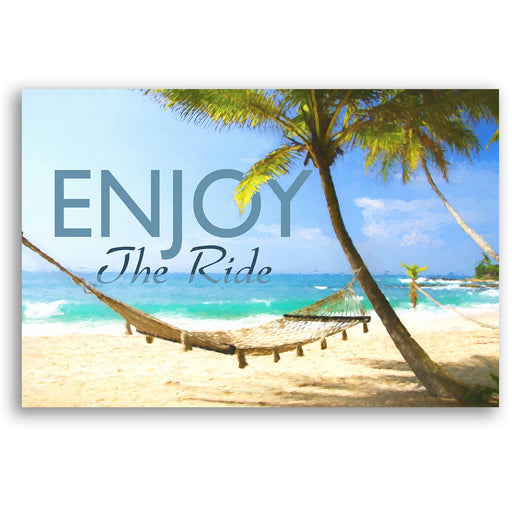 "Inspirational Canvas Wall Art ""Enjoy the Ride #2""- Stretched On Wood Frame, Ready To Hang!"