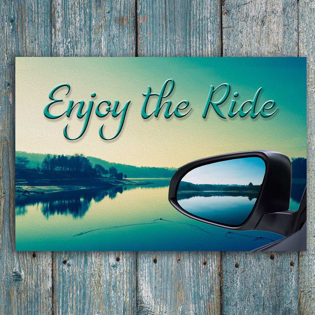 "Inspirational Canvas Wall Art ""Enjoy the Ride #1""- Stretched On Wood Frame, Ready To Hang!"