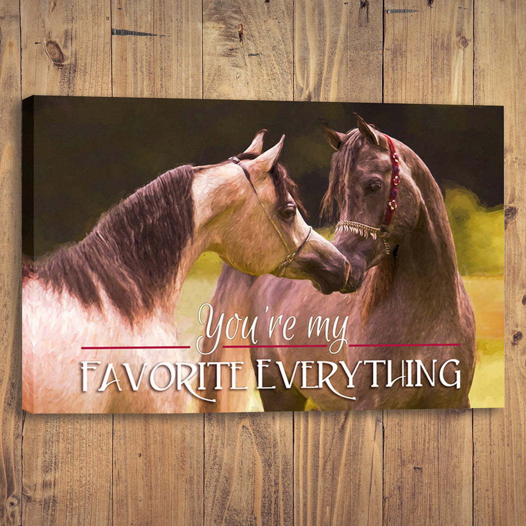 "Horse Canvas Wall Art ""My Favorite Everything "" - Stretched On Wood Frame, Ready To Hang!"