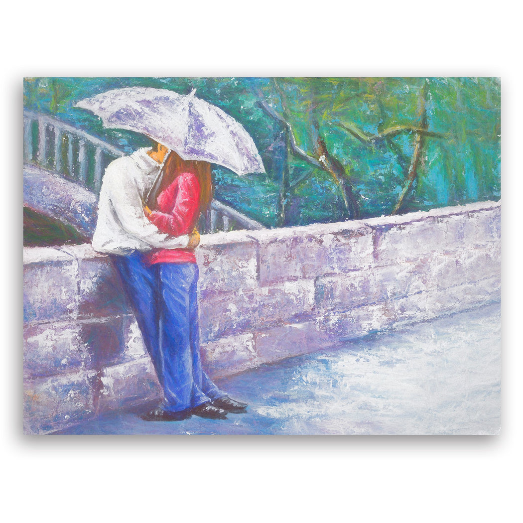 "Romantic Canvas Wall Art ""Making Memories"" - Stretched On Wood Frame, Ready To Hang!"