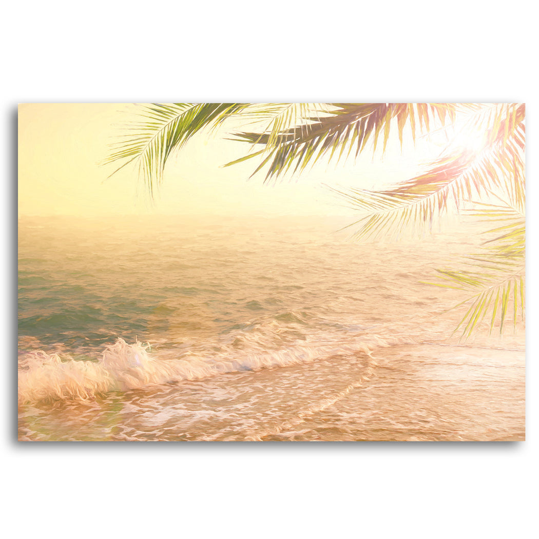 "Seascape Canvas Wall Art ""At Peace with the Flow""- Stretched On Wood Frame, Ready To Hang!"