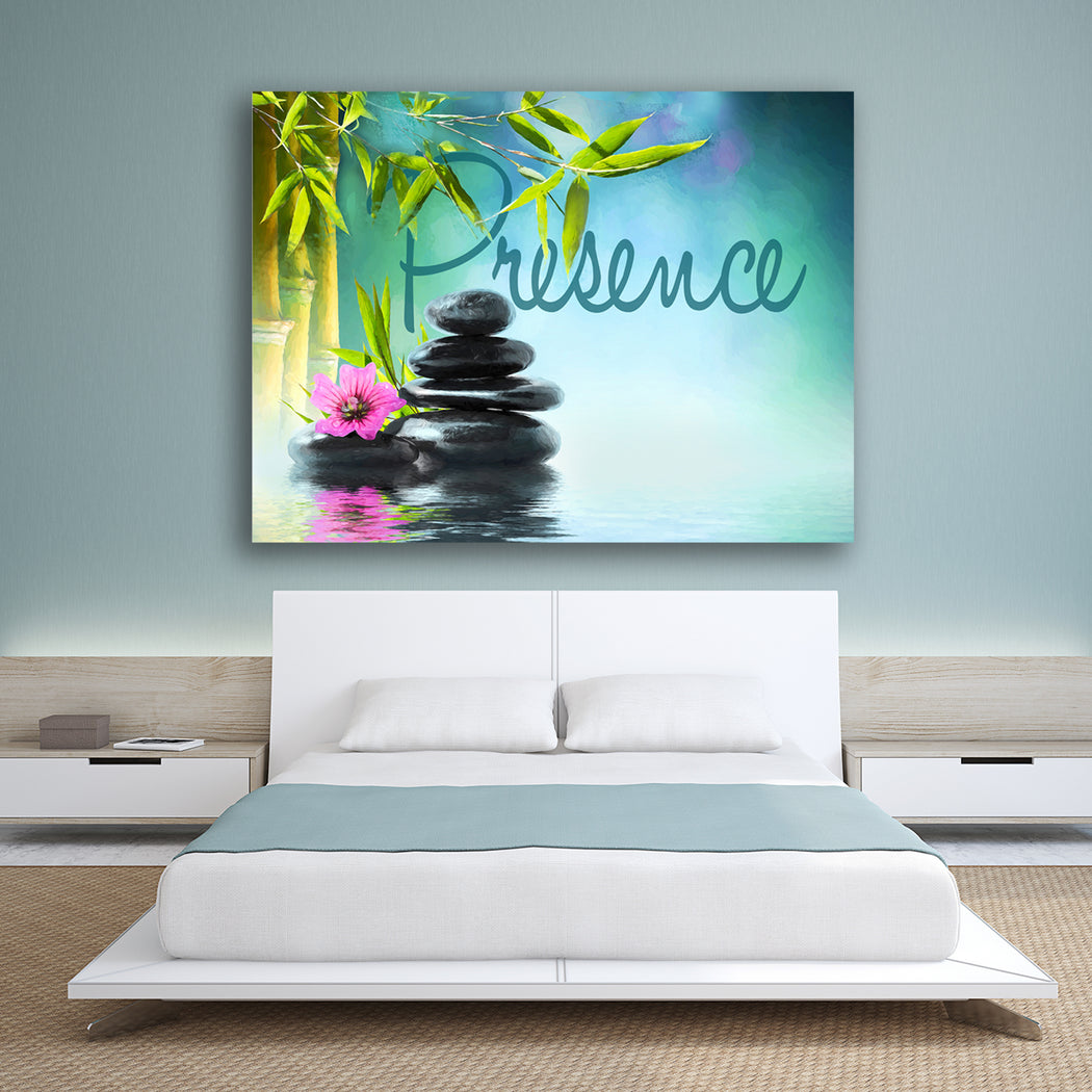 "Landscape Canvas Wall Art ""Presence"" - Stretched On Wood Frame, Ready To Hang!"