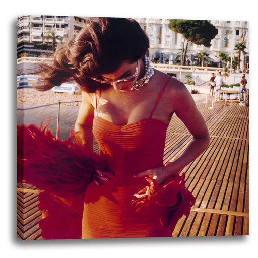 Red Dress in Cannes 1987