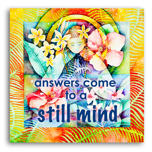 "Inspirational Canvas Wall Art ""Still Mind""- Stretched On Wood Frame, Ready To Hang!"