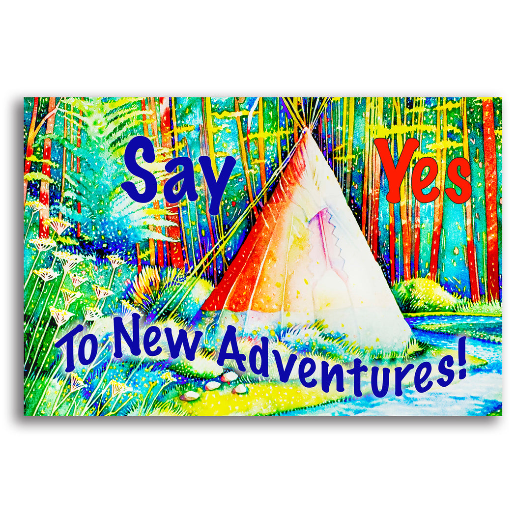 "Kid's Landscape Canvas Wall Art ""Say Yes"" - Stretched On Wood Frame, Ready To Hang!"