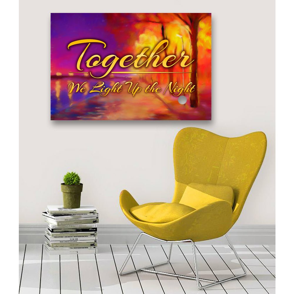 "Romantic Canvas Wall Art ""Light Up the Night"" - Stretched On Wood Frame, Ready To Hang!"