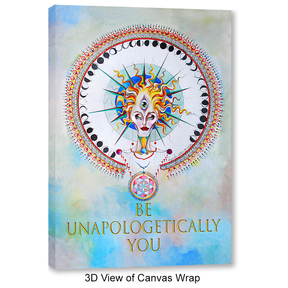 "Inspirational Canvas Wall Art - ""Be Unapologetically You"" - Stretched On Wood Frame, Ready To Hang!"