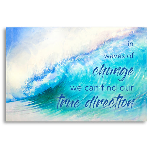 "Seascape Wave Canvas Wall Art ""Waves of Change"" - Stretched On Wood Frame, Ready To Hang!"