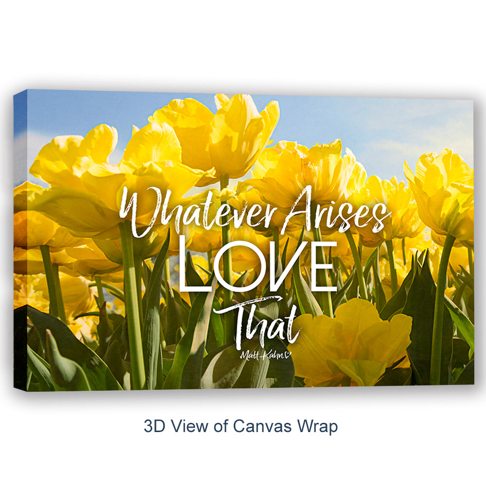 "Matt Kahn Inspirational Canvas Wall Art - ""Whatever Arises"" - Stretched On Wood Frame, Ready To Hang!"