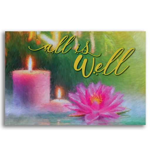 "Inspirational Canvas Wall Art - ""All is Well #2"" - Stretched On Wood Frame, Ready To Hang!"