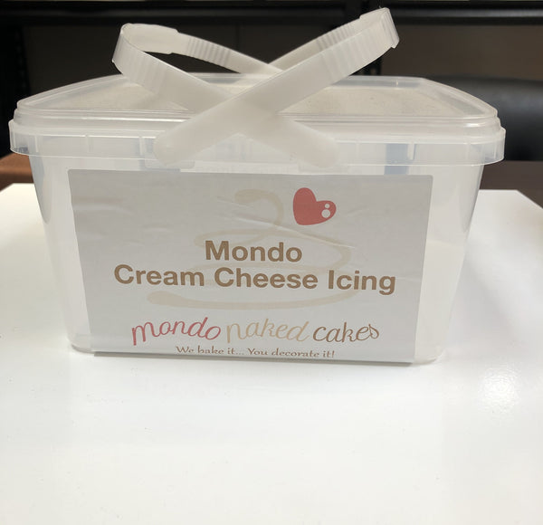 Mondo Cream Cheese Icing 3 kg @ 3ltr