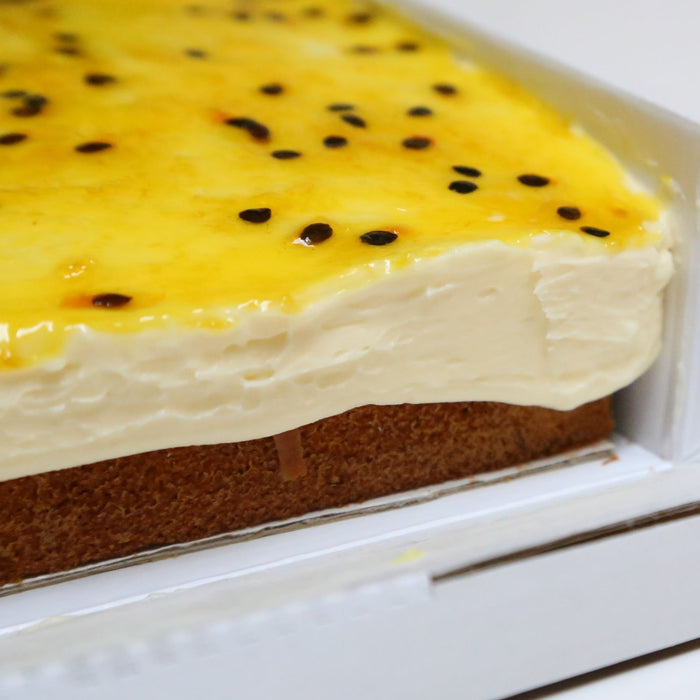 Banana Catering Sheet with Passionfruit Icing