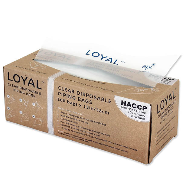 "LOYAL CLEAR 15""/38cm 100 disposable bags"
