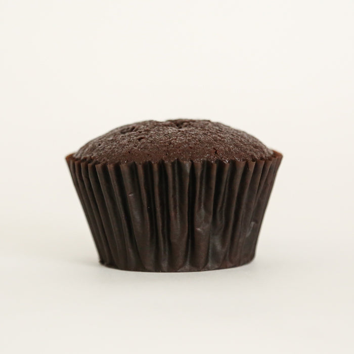 "12 Naked ""EGGLESS"" Chocolate Cupcakes 7cm"