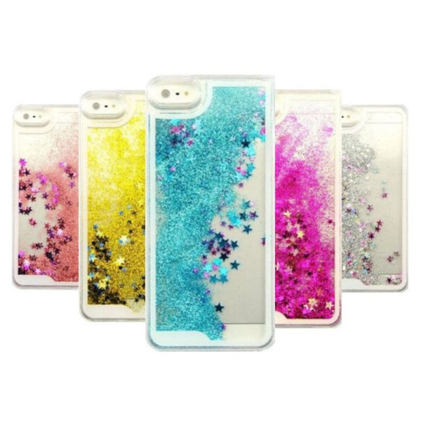 Dynamic Glitter Stars Liquid Case For iPhone and Samsung