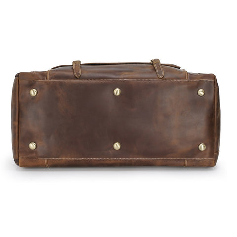 Large Duffel Leather Bag