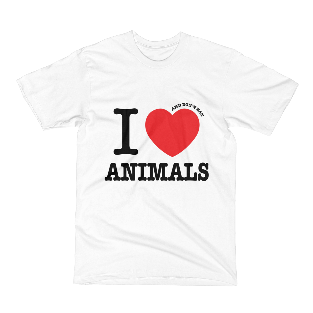 I HEART and don't eat ANIMALS