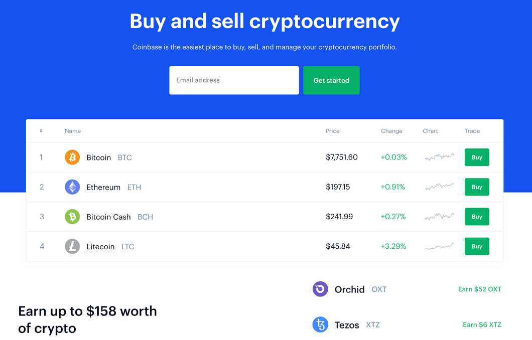 Coinbase - Buy & Sell Cryptocurrency