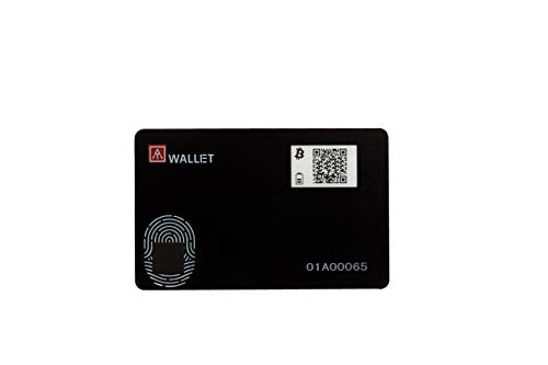 AUTHENTREND ATWallet Fingerprint Cryptocurrency Wallet - Store Bitcoin, Ethereum and More with Biometric Security - Hold and Control Your Bitcoin Safely and Easily