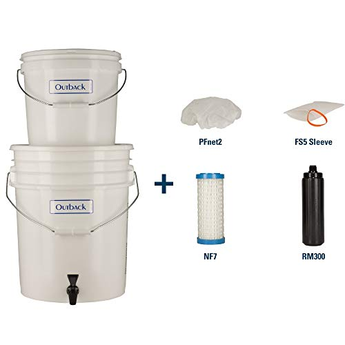 Outback Emergency Water Filtration Bundle: Portable Gravity Filter Plus + Extra Filter Replacement Kit - Removes Viruses & Bacteria 99.99%