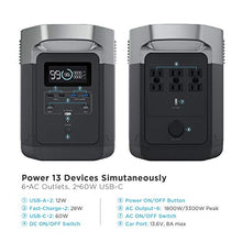EF ECOFLOW Portable Power Station EFDELTA, UPS Power Supply 1260Wh Battery Pack with 6 1800W (3300W Surge) AC Outlets, Solar Battery Generator for Outdoor Camping RV